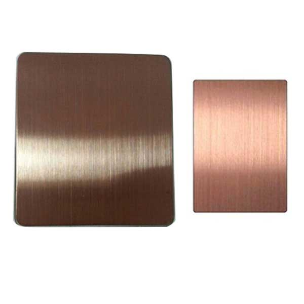 SS Bronze Hairline Metal Sheet
