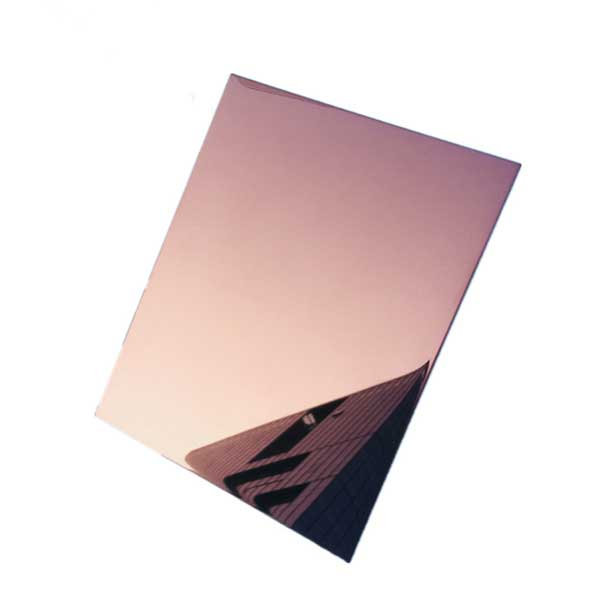 Stainless Steel Rose Gold Mirror Sheets Uns S30400 Designer Sheets Ss 1 4301 Rose Gold Mirror Sheet Suppliers Manufacturers Exporters